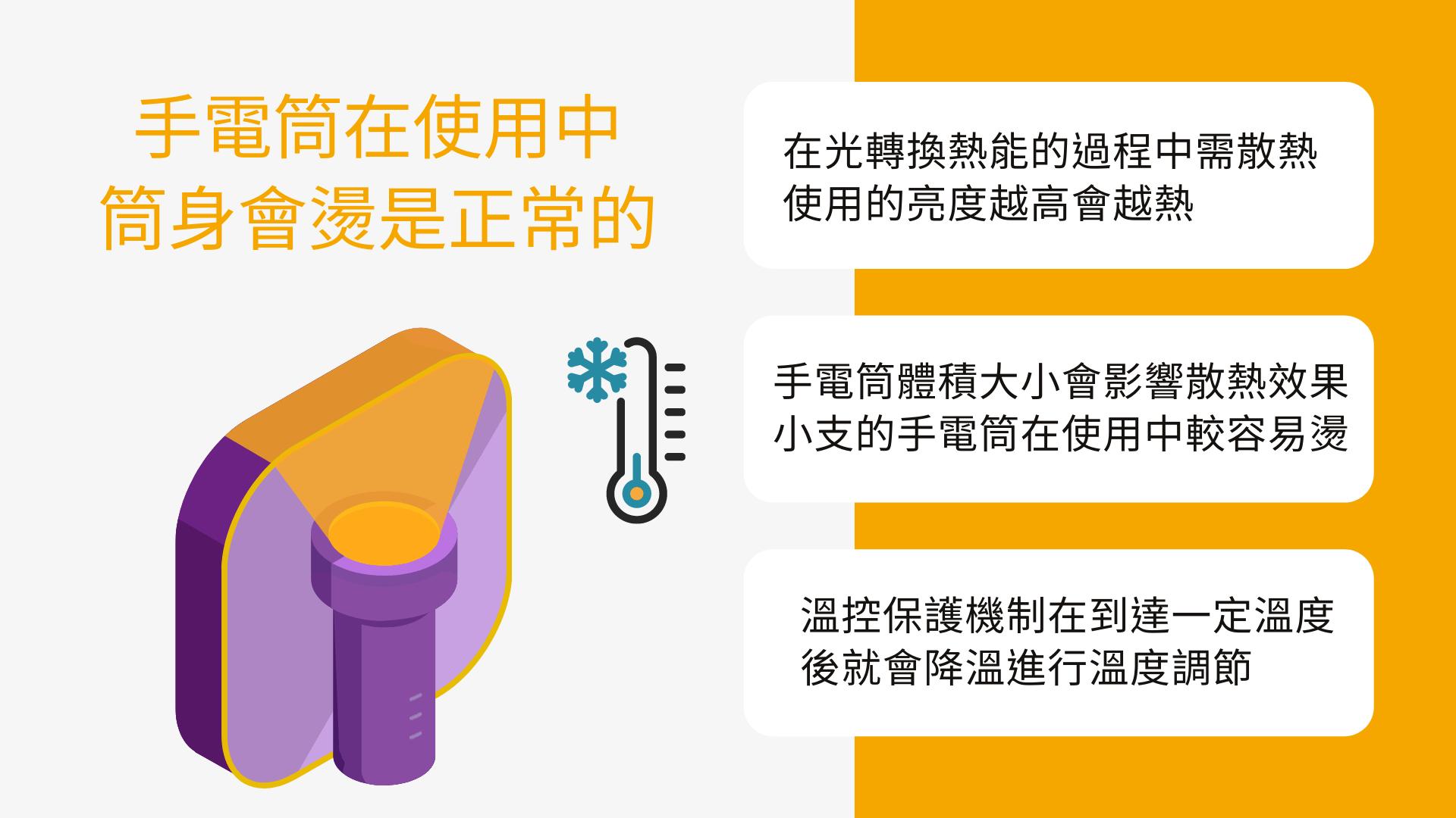 手電筒在使用中,筒身會燙是正常的嗎