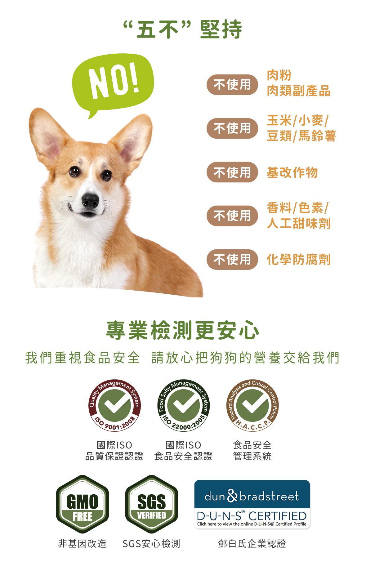 国际品质认证,请放心把狗狗的营养交给我们