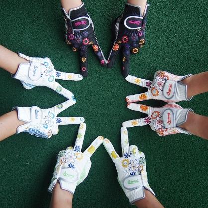 日本Person's女用高爾夫繽紛馬卡龍色系列手套