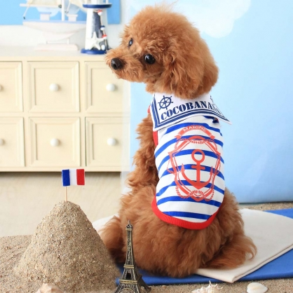 【PET'S REPUBLIC】CoCoBANANA-條紋水手無袖衫