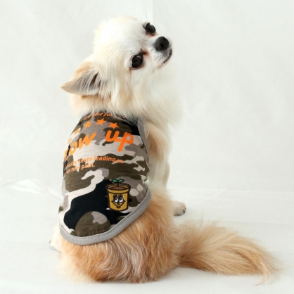 【PET'S REPUBLIC】CoCoBANANA-英字迷彩無袖衫