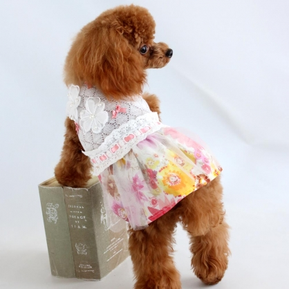 【PET'S REPUBLIC】GemelliDog-花團錦簇連身裙