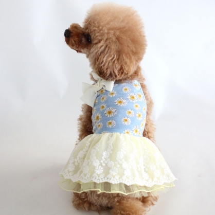 【PET'S REPUBLIC】GemelliDog-雛菊薄紗連身裙