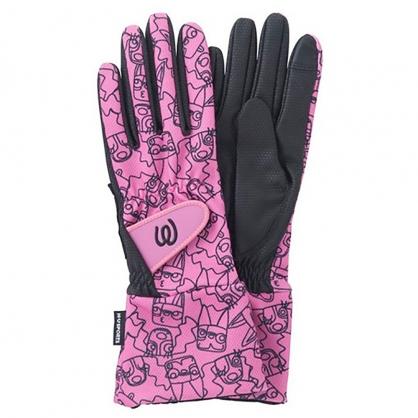 秋冬粉紅觸控式手套