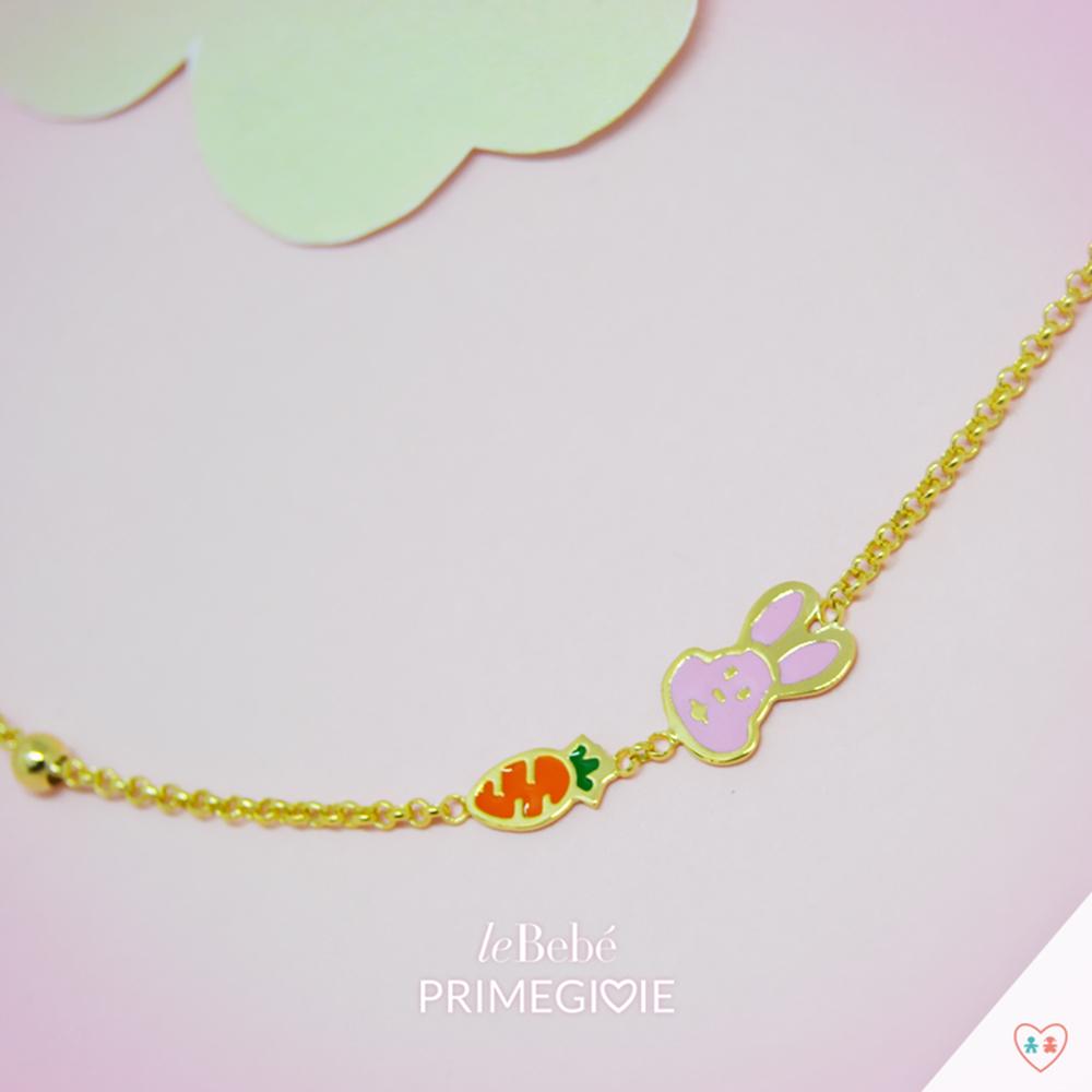 Primegioie首愛 Lucky幸運手鍊 兔子與胡蘿蔔設計