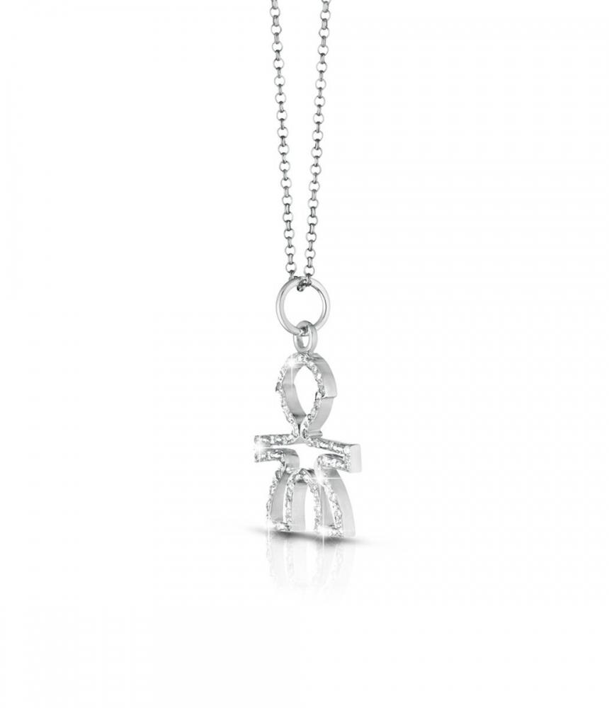Gioielli珍愛Silhouette男孩輪廓意象鑽石項鍊