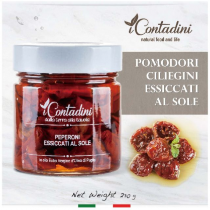 義大利Icontadini 日曬乾櫻桃番茄-Pomodori Ciliegini Essiccati Al Sole