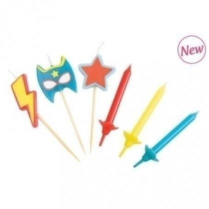 法國ScrapCooking超級英雄蠟燭 3入、小蠟燭 12入