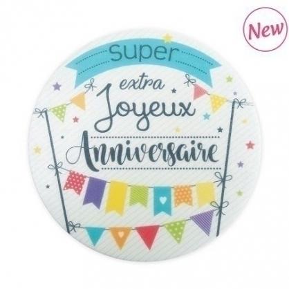 法國ScrapCooking生日快樂蛋糕裝飾 1入