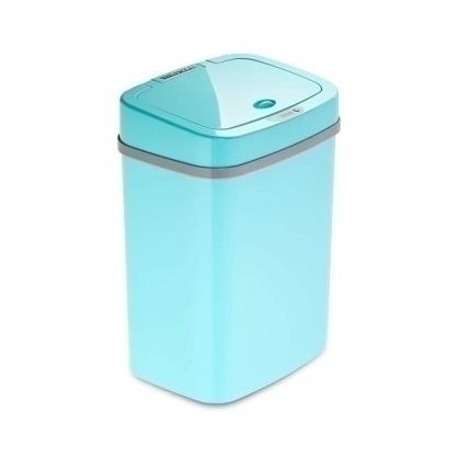 美國NINESTARS感應式垃圾桶12L 蒂芬妮藍(廚衛系列)