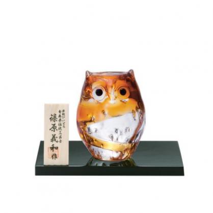 日本津輕 手作金色貓頭鷹-小/1入