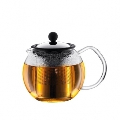 bodum assam壓濾式茶壺/金屬濾心/亮面(不鏽鋼)/500cc