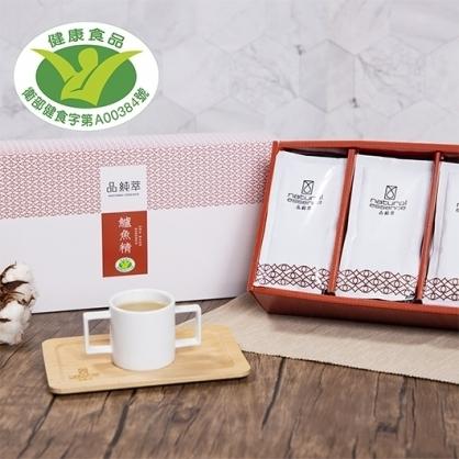 【品純萃】鱸魚精禮盒 (15包+雙耳杯/盒) (免運)