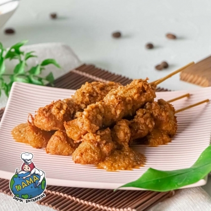 【大瑪南洋蔬食】豆包捲/咖哩豆包捲/沙嗲串/雞米花(純素)