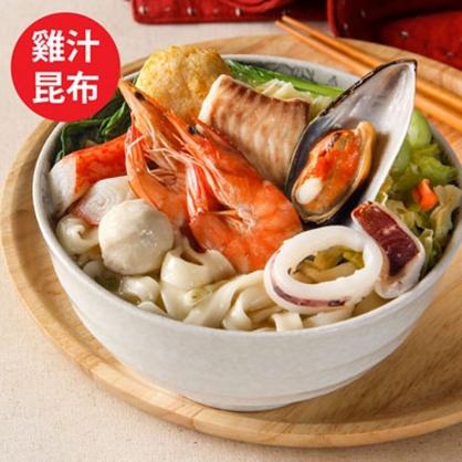豪華海鮮麵(雞汁昆布)