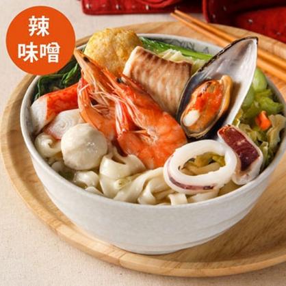 豪華海鮮麵(韓式辣味噌)
