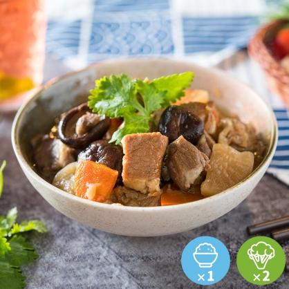 埔里有機香菇燉肉豪華餐1份