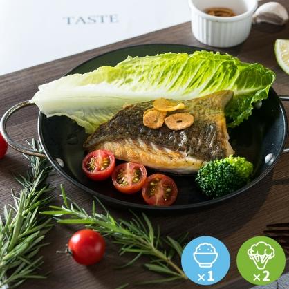 黃金香煎鱸魚排豪華餐1份