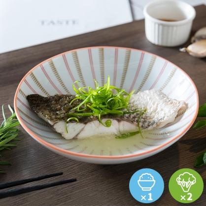 清蒸黃金鱸魚排豪華餐1份