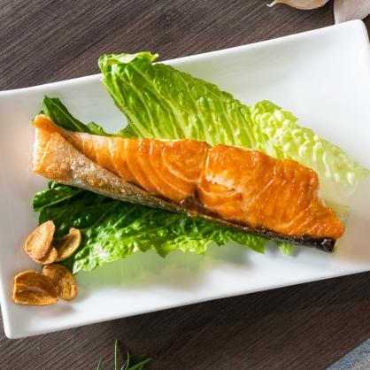 鹽烤鮭魚1份