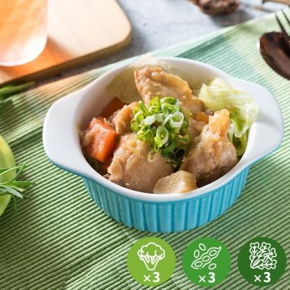 【減醣無澱粉】和風醬燒雞腿超值餐3份