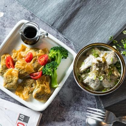 【減醣無澱粉】減醣千張蔬菜鮮肉雲吞超值餐4盒
