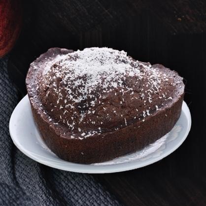 極致黑巧克力磅蛋糕搭干邑葡萄乾(6.5吋)(蛋奶素)