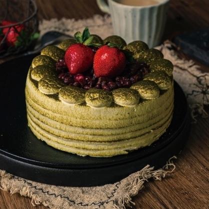 紅豆抹茶蛋糕(蛋糕無法宅配,僅限自取)(蛋奶素)