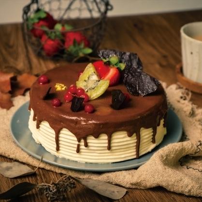 熔岩巧克力水果蛋糕(蛋糕無法宅配,僅限自取)