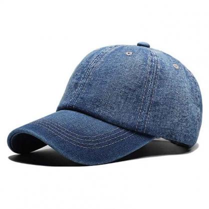 平繡訂製-藍色牛仔布棒球帽(可調節)
