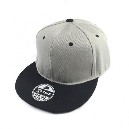 平繡訂製-灰黑拼接嘻哈帽