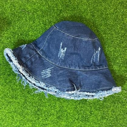 平繡訂製-藍色牛仔漁夫帽