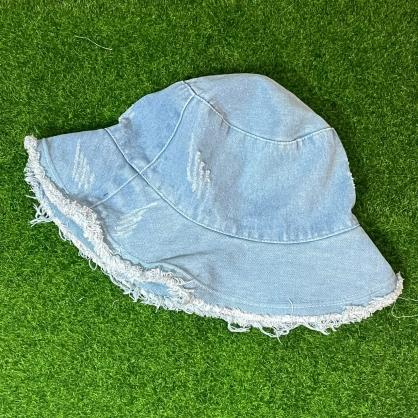 平繡訂製-淺藍色牛仔漁夫帽
