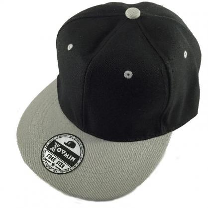 立體繡訂製-黑灰拼接嘻哈帽