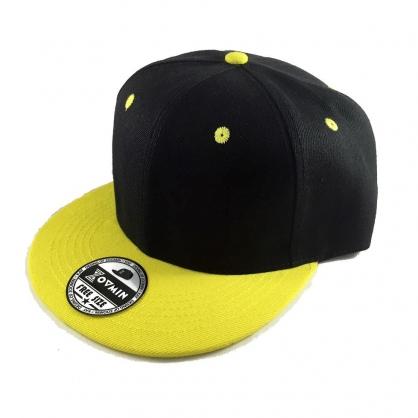 立體繡訂製-黑黃拼接嘻哈帽