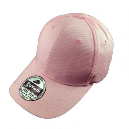 立體繡訂製-兒童粉紅色棒球帽
