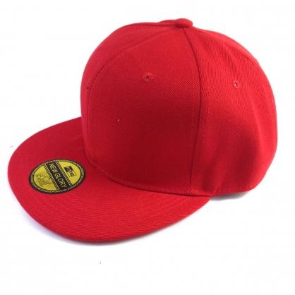 平繡訂製-紅色嘻哈帽(kid)