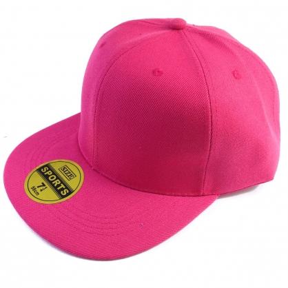 平繡訂製-桃紅色嘻哈帽(kid)