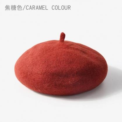 貝蕾帽-焦糖色