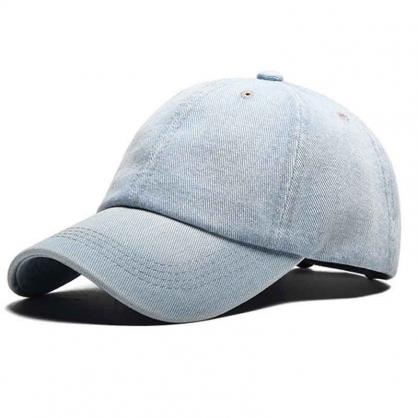 立體繡訂製-淺藍色牛仔布棒球帽