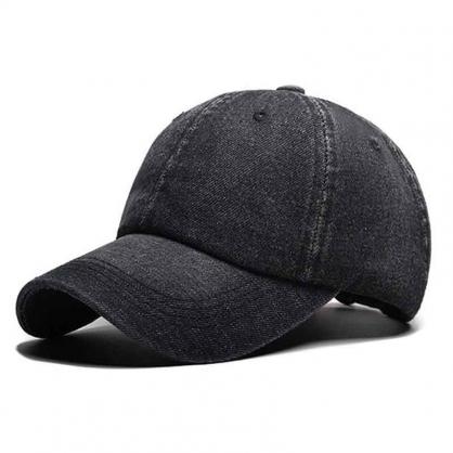 立體繡訂製-黑色牛仔布棒球帽