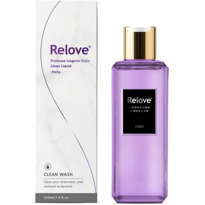 【Relove】秘淨私密衣物蛋白酵素去漬抑菌手洗精220ml ~光韻紫丁香