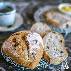 活力金棗酵母|酒香裸麥米義式麵包