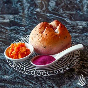 活力金棗酵母|雙色地瓜米義式麵包