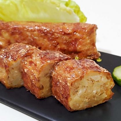 香酥猴菇疏肉卷