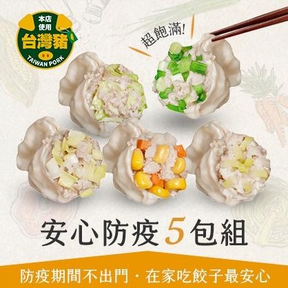 【安心防疫】冷凍水餃5包組