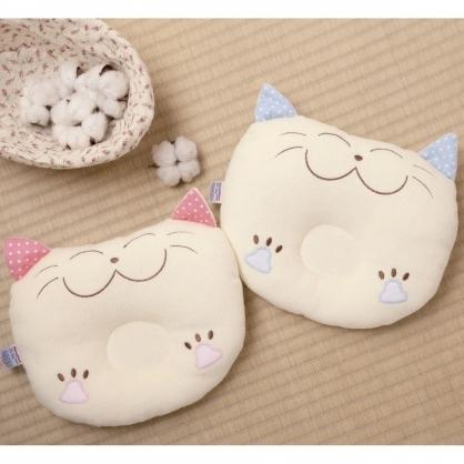 幸福招財貓咪嬰兒枕