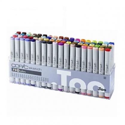 日本原裝進口 COPIC sketch 第二代麥克筆 72 Color 72色 D色系 盒裝 /盒 (原廠公司貨)
