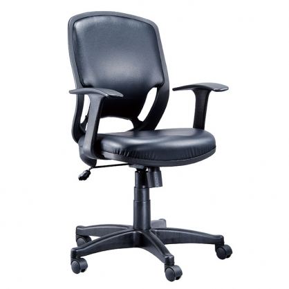R1 網布 辦公椅 黑皮 /張 LV-105P
