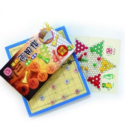 雷鳥 磁性兩用棋(象棋.跳棋) / 盒 LT-3015